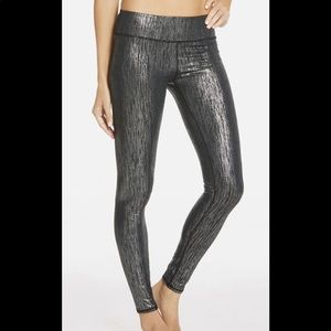 Fabletics Silver Icicle Printed PowerHold Leggings